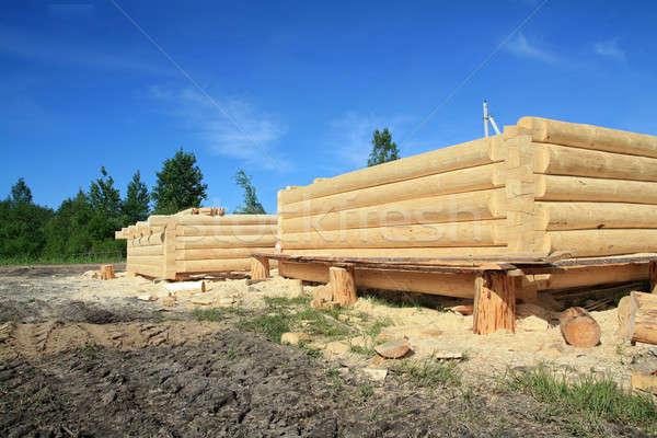 Costruzione nuovo legno costruzione business casa Foto d'archivio © basel101658