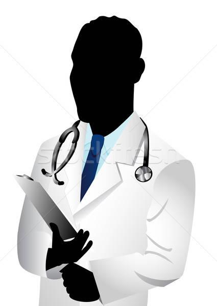 Arts silhouet vector kaukasisch man zie Stockfoto © BasheeraDesigns