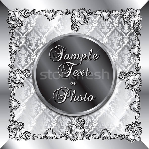 Wedding Silver Background Stock photo © BasheeraDesigns