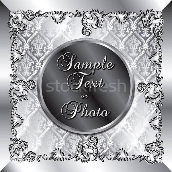 Bruiloft zilver sjabloon kan gebruikt bruiloften Stockfoto © BasheeraDesigns