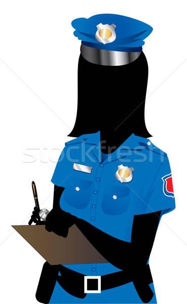 Rendőrség nő lány munka toll modell Stock fotó © BasheeraDesigns
