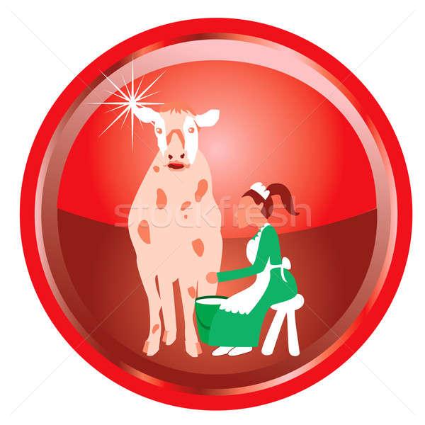 12 natal ilustração cartão botões mulher Foto stock © BasheeraDesigns