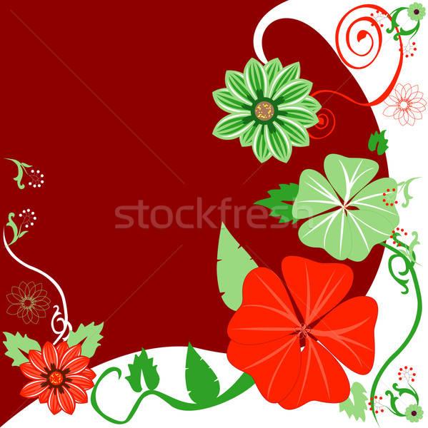Christmas sjabloon ontwerp blad Rood Stockfoto © BasheeraDesigns