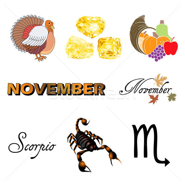 November Icons Stock photo © BasheeraDesigns