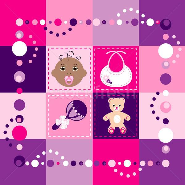 Baby Girl Quilt Stock photo © BasheeraDesigns