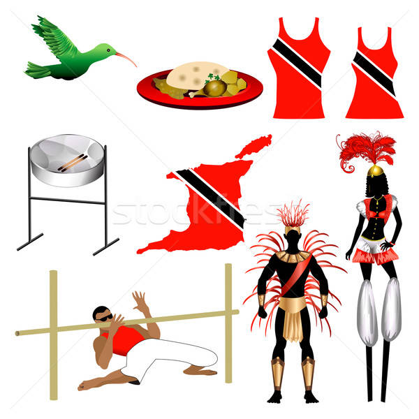 Trinidad Icons 2 Stock photo © BasheeraDesigns