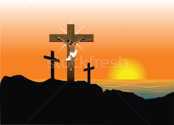 Jesus Easter Resurrection Stock photo © BasheeraDesigns