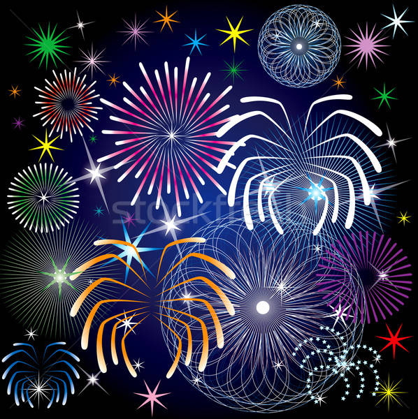 Fireworks Stock photo © BasheeraDesigns