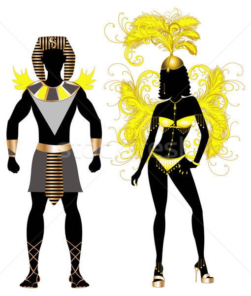 Carnival Egyptian Couple Stock photo © BasheeraDesigns