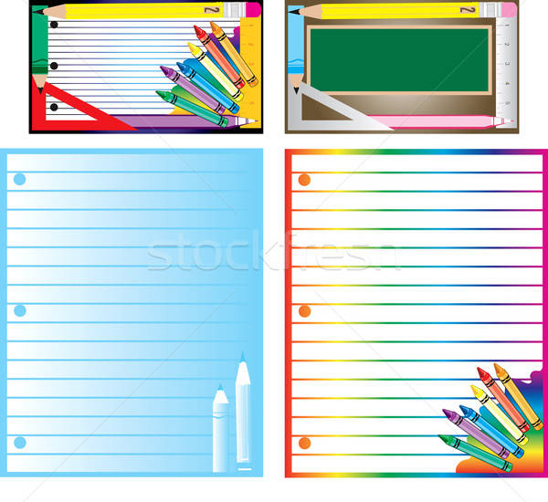 School Business Set Stock photo © BasheeraDesigns
