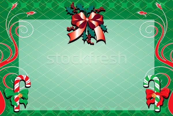 Christmas decoratief bloemen groene winter Rood Stockfoto © BasheeraDesigns