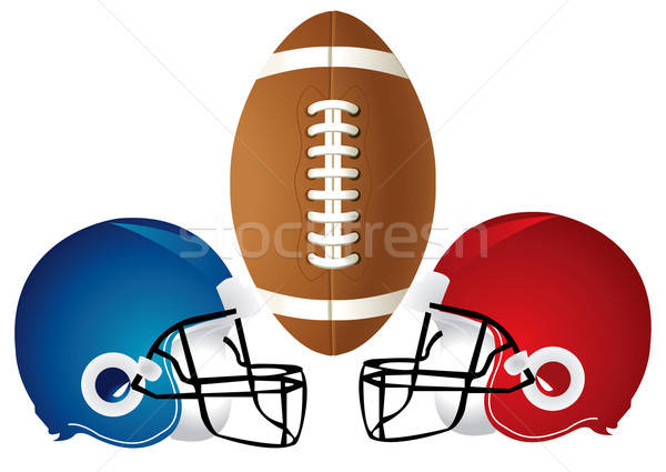 Football Helmet Design Stock photo © BasheeraDesigns