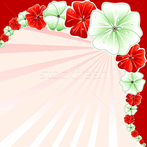 Christmas Rood groene bloemen vakantie Stockfoto © BasheeraDesigns