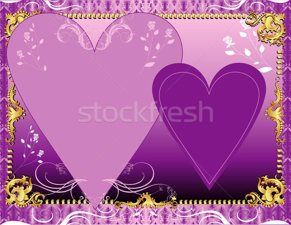 Purple Lavender Template Stock photo © BasheeraDesigns