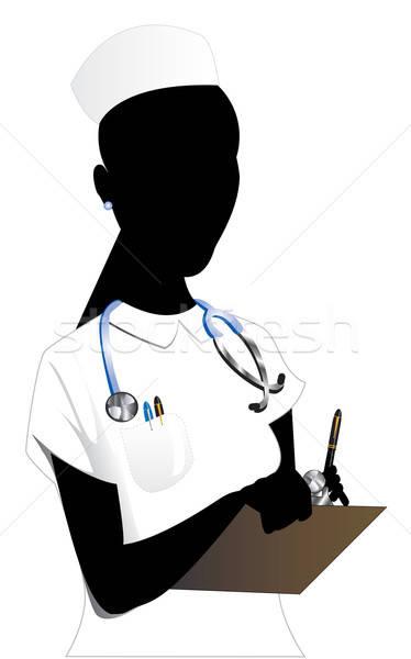 Verpleegkundige asian vrouw arts werk medische Stockfoto © BasheeraDesigns