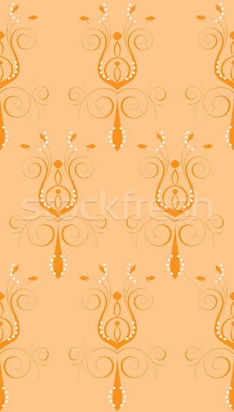 Perzik oranje abstract bloem naadloos ontwerp Stockfoto © BasheeraDesigns