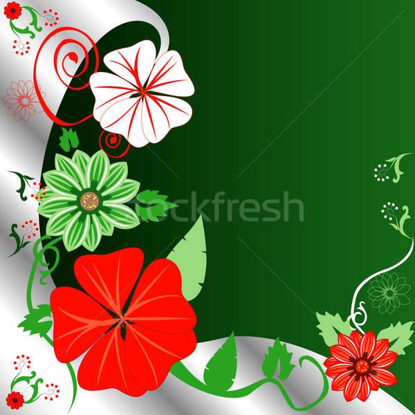 Virágmintás karácsony sablon absztrakt terv levél Stock fotó © BasheeraDesigns