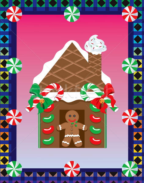 Stock photo: Christmas Gingerbread House 3