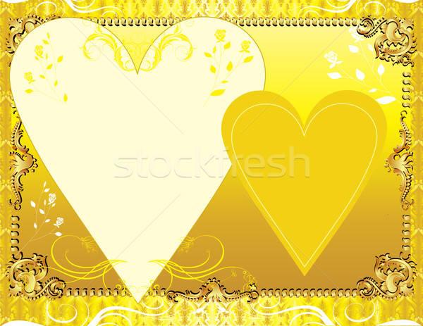 Sjabloon wenskaart uitnodiging foto partij abstract Stockfoto © BasheeraDesigns