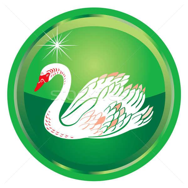 12 natal ilustração cartão botões verde Foto stock © BasheeraDesigns