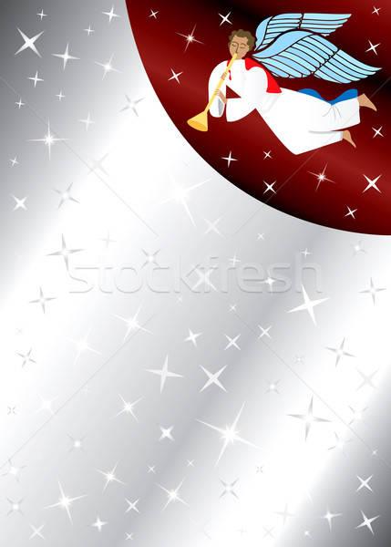 ストックフォト: 天使 · 星 · スペース · 文字 · 画像 · 男