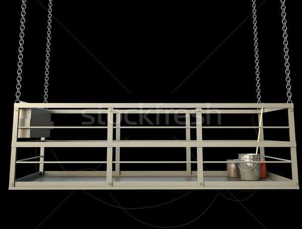 Construcción ascensor vacío negro 3d fondo Foto stock © bayberry