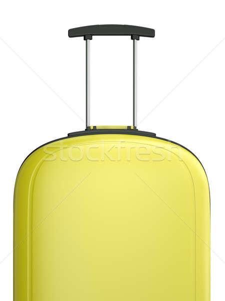 Viaje maleta amarillo manejar 3D prestados Foto stock © bayberry