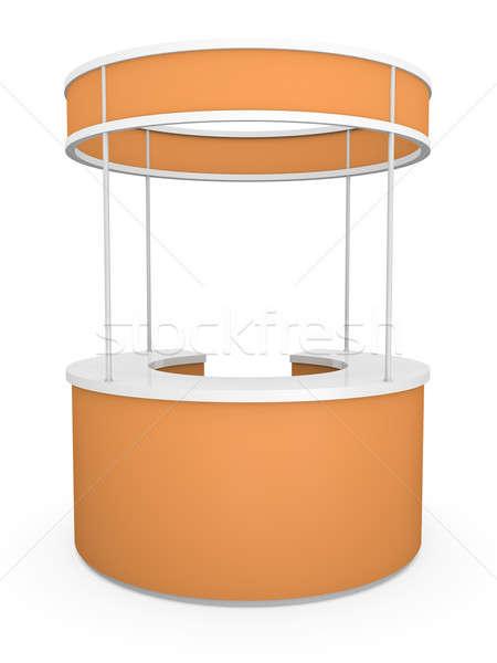 Stockfoto: Handel · stand · 3D · gerenderd · illustratie