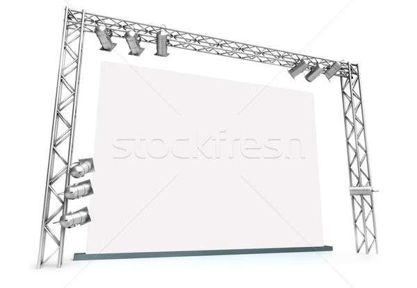 большой экране осветительное оборудование 3D оказанный изображение Сток-фото © bayberry
