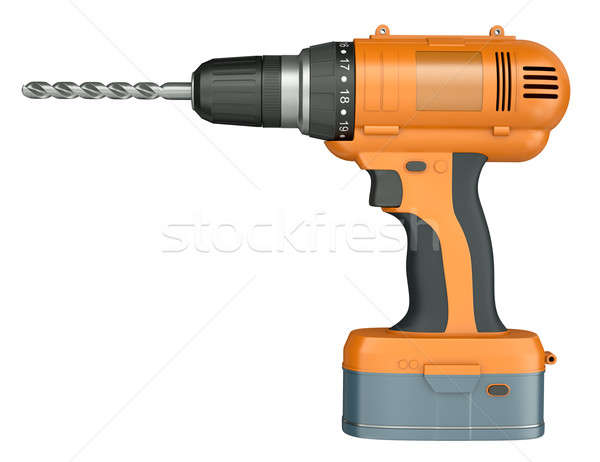 Orange cordless drill Stock photo © bayberry