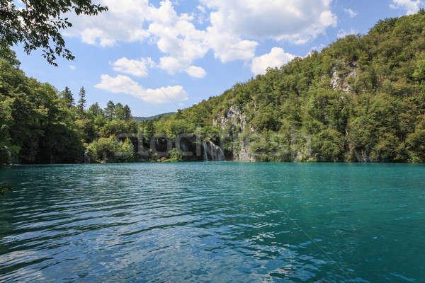 Lago Croacia hermosa paisaje naturales patrimonio Foto stock © bayberry