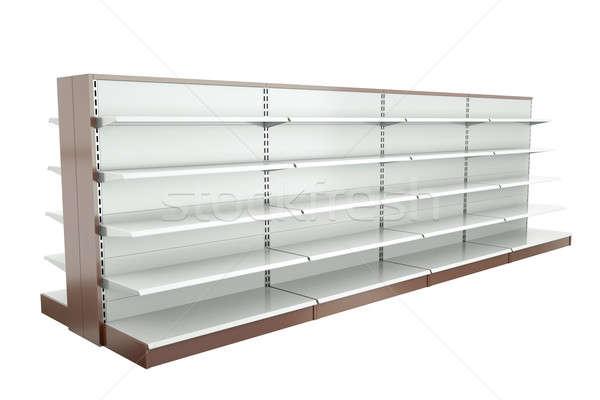 Supermercado estantería 3d metal compras Foto stock © bayberry