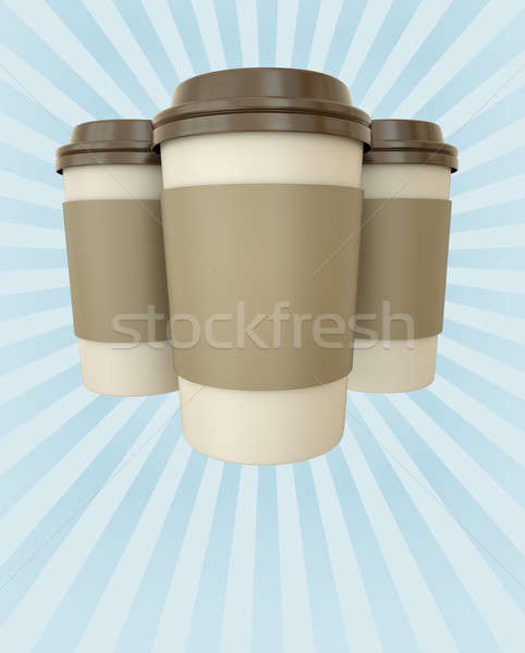 Coffee cups poster Stock photo © bayberry