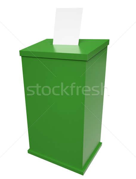 Votación cuadro verde 3d papel documento Foto stock © bayberry