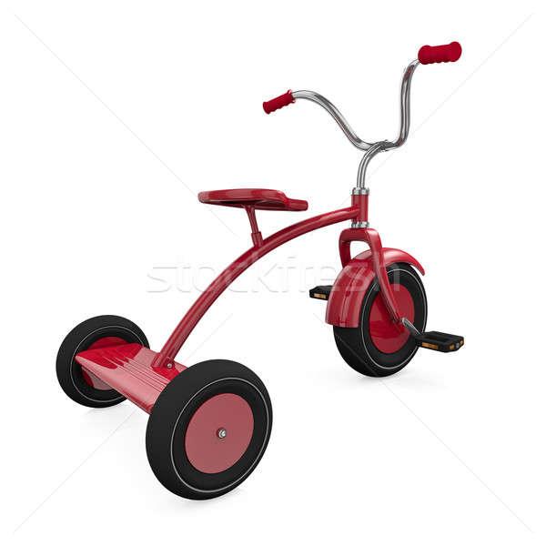 Kırmızı üç tekerlekli bisiklet beyaz yüksek kalite 3D Stok fotoğraf © bayberry