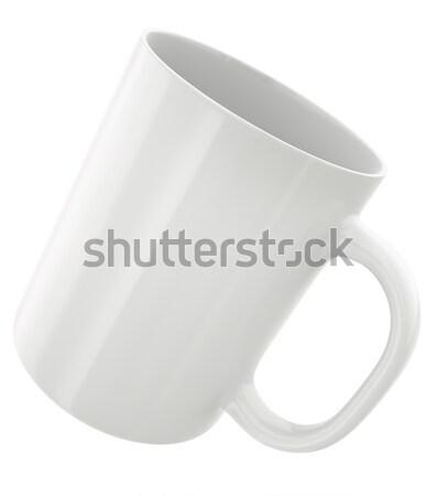 Fehér bögre egyszerű 3d render ital tárgy Stock fotó © bayberry