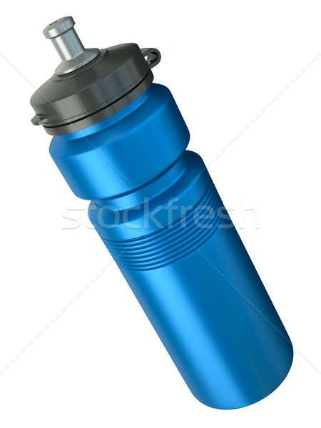 ストックフォト: 青 · 水筒 · スポーツ · 3dのレンダリング · スポーツ · 液体