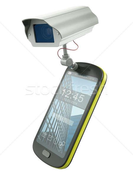 кабельное телевидение мобильных мобильного телефона камеры электронных Сток-фото © bayberry