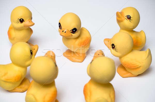 Groep eendje Pasen vogel spreker Stockfoto © bayberry