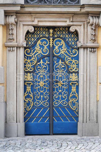 ドア 美しい 家 テクスチャ デザイン パターン ストックフォト © bayberry