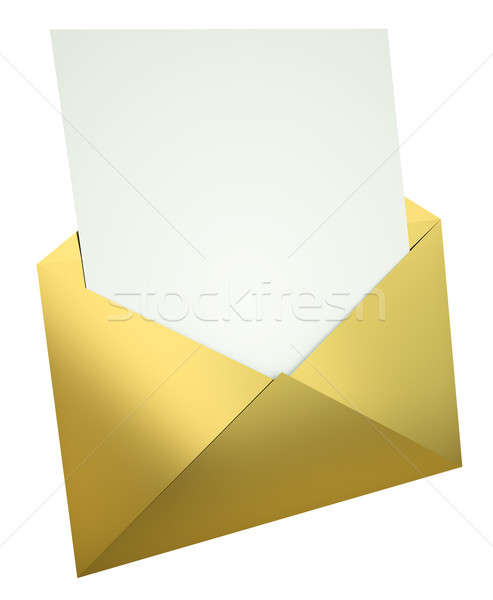 Letter in gold envelope Stock photo © bayberry