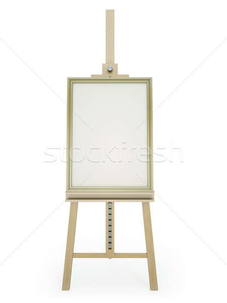 Sztaluga zdjęcie biały 3d tle Zdjęcia stock © bayberry