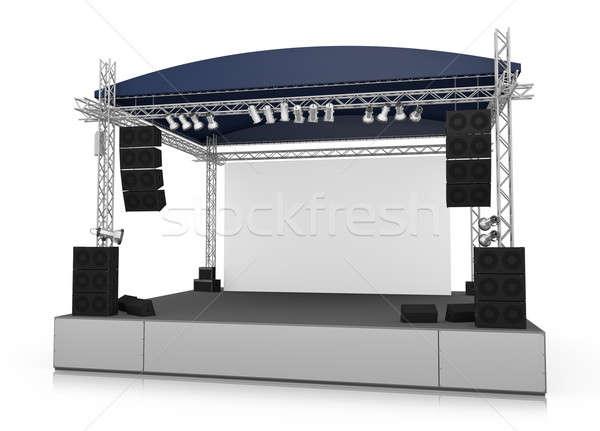 ステージ 空っぽ 屋外 画面 3D レンダリング ストックフォト © bayberry