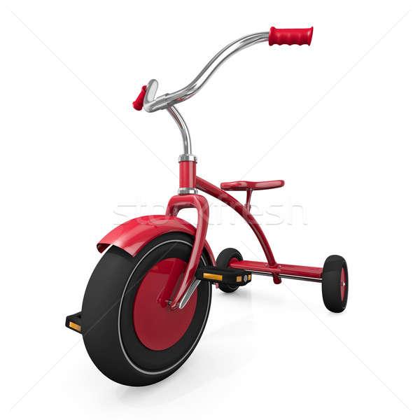 красный трехколесный велосипед белый высокий качество 3D Сток-фото © bayberry
