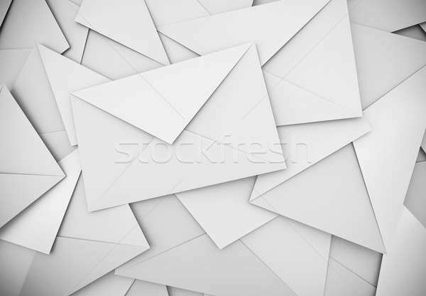 Stock photo: White envelopes background