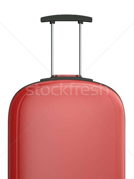 旅行 スーツケース 赤 ハンドル 3D レンダリング ストックフォト © bayberry