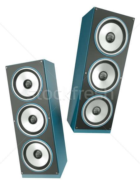 два ораторов изолированный белый 3d визуализации технологий Сток-фото © bayberry