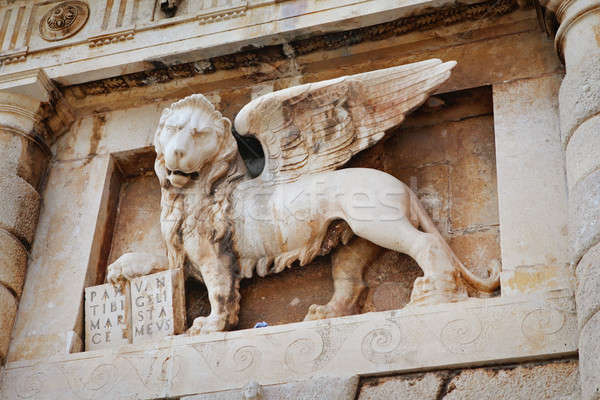 Stock photo: Winged lion