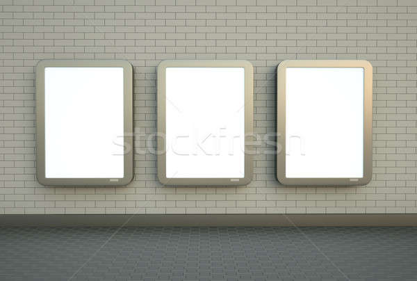 Three wall banners Stock photo © bayberry
