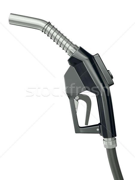 üzemanyag fúvóka fekete benzinkút pumpa izolált fehér Stock fotó © bayberry